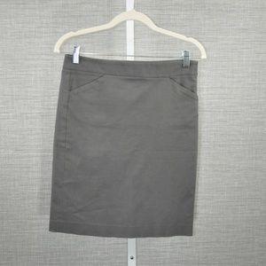 Theory Light Grey Pencil Skirt - 2
